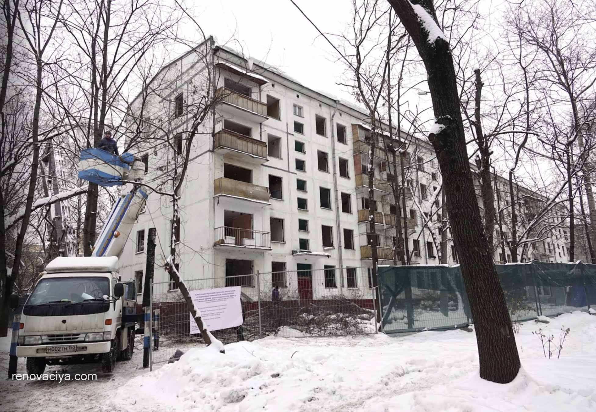 сносят четвертую пятиэтажку по программе реновации