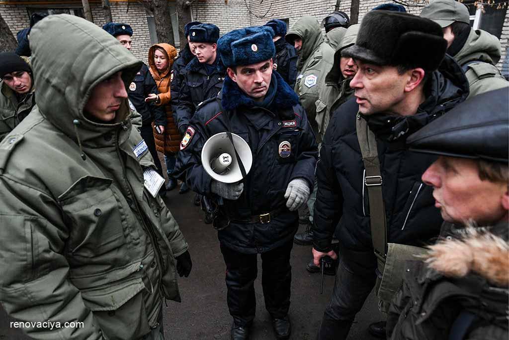 протест против реновации в Кунцеве