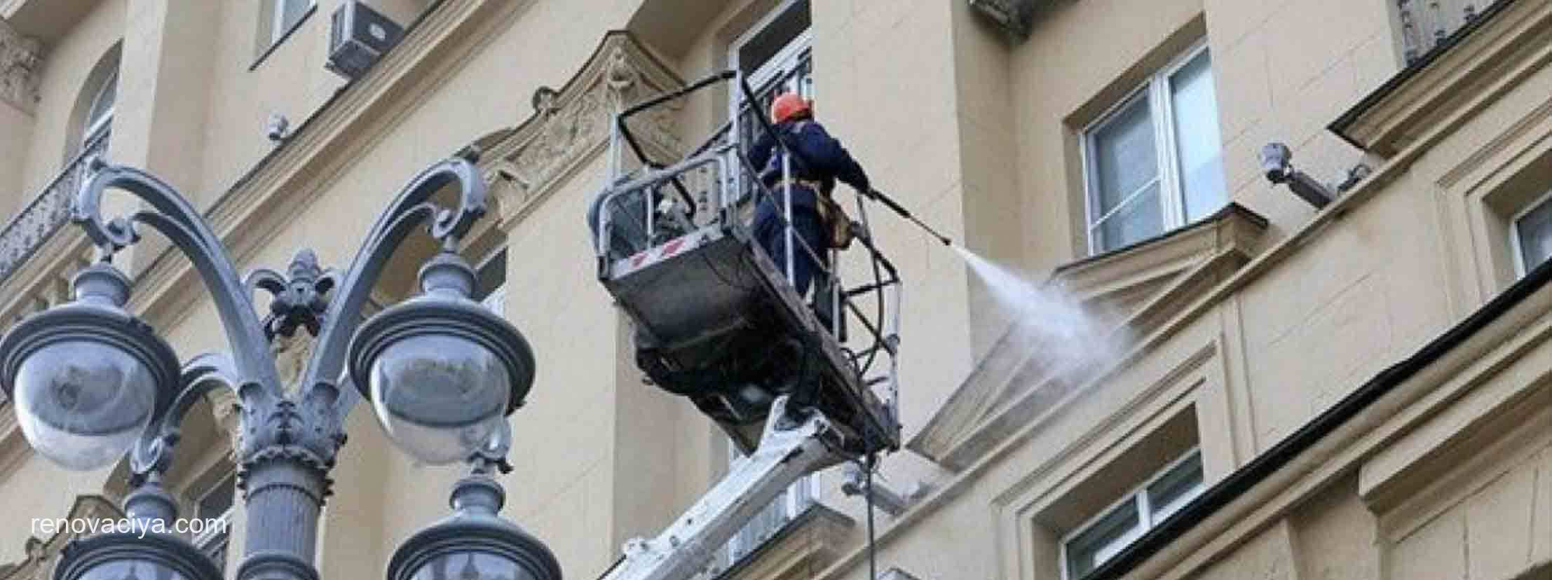 В Москве помоют жилые фасады