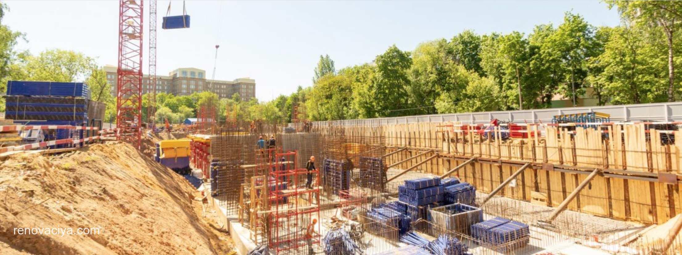 Строительство 34 домов по реновации