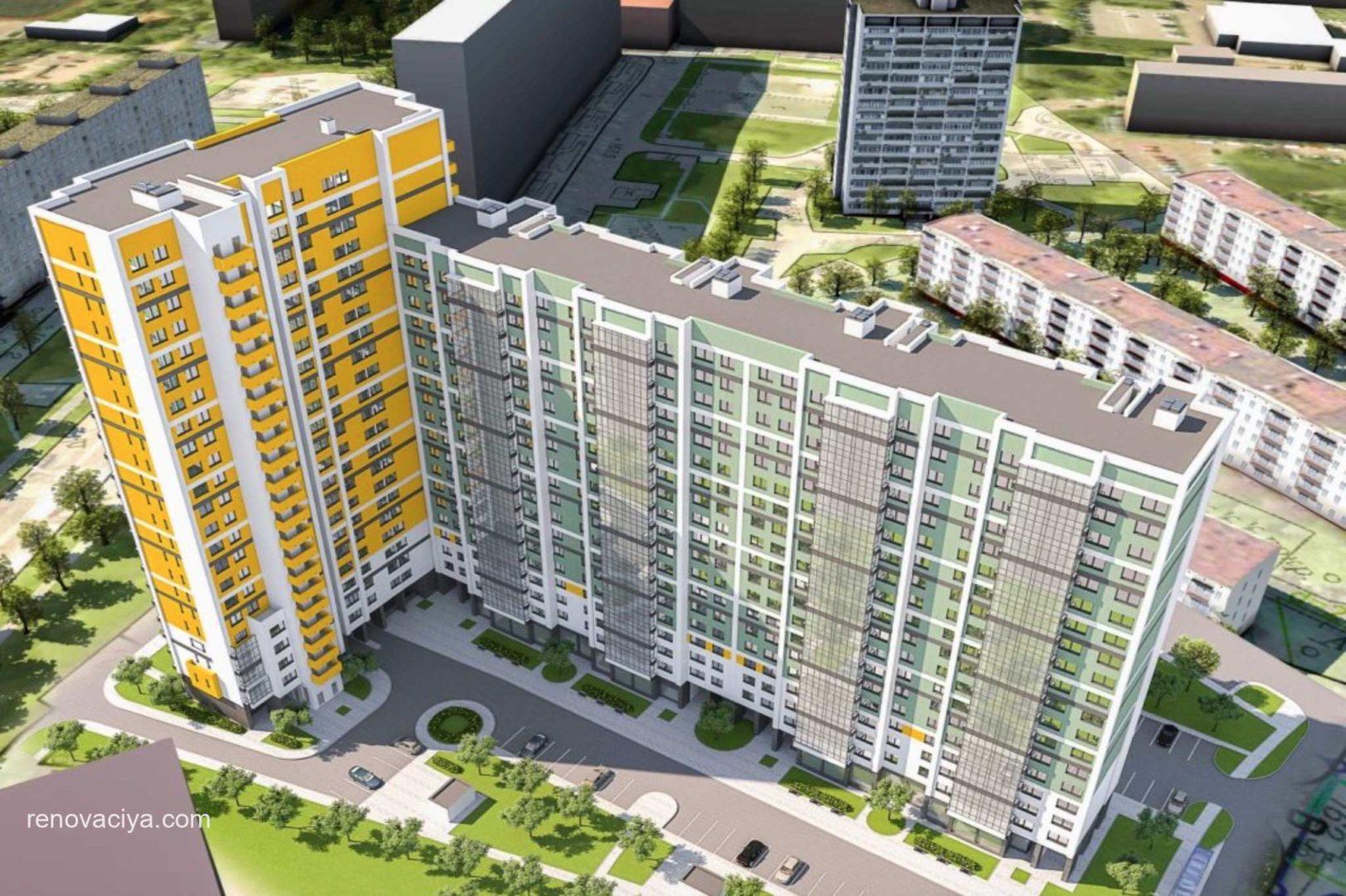 Дом с ярким фасадом в Очаково-Матвеевском 2021